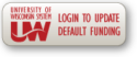 Login to Update Default Funding button/link